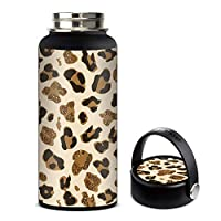 Skin Decal Vinyl Wrap for Hydro Flask 32oz Wide Mouth stickers skins cover/Leopard Print Glitter Print (not real glitter)