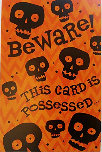 Beware! This Card is Possessed ... By Someone I Like a Lot - YOU! Happy Halloween Romantic / Flirty Greeting Card]()