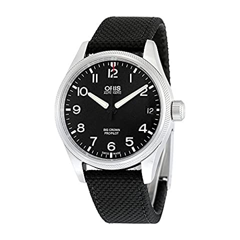 Oris Big Crown ProPilot Date Automatic Black Dial Black Fabric Mens Watch 751-7697-4164BKFS (Watch Automatic Oris)