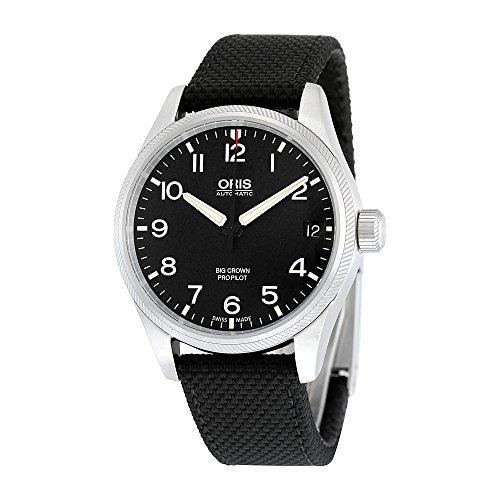 Oris Big Crown ProPilot Date Automatic Black Dial Black Fabric Mens Watch 751-7697-4164BKFS