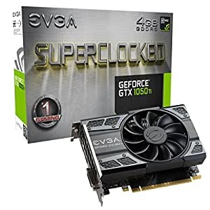 EVGA GeForce GTX 1050 Ti SC, 4G GDDR5, DX12 OSD (PXOC) tarjeta Grafica 04G-P4-6253-KR