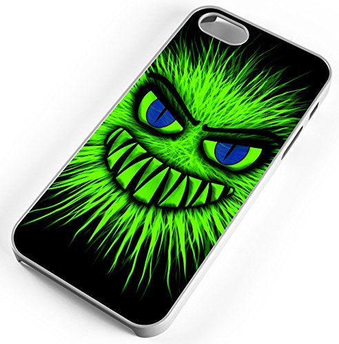 (iPhone 8 Plus 8+ Case Aggressive Green Biting Monster Customizable TYD Designs in White Plastic)