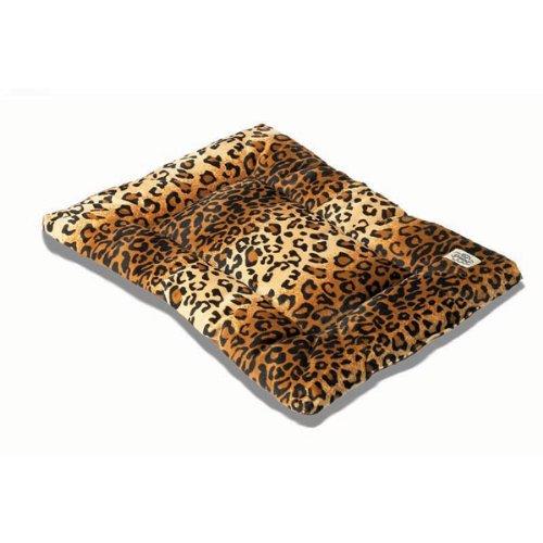 Pet Dreams Plush Sleep-eez Reversible 30 by 20-Inch Pet Bed, Medium, Leopard, My Pet Supplies