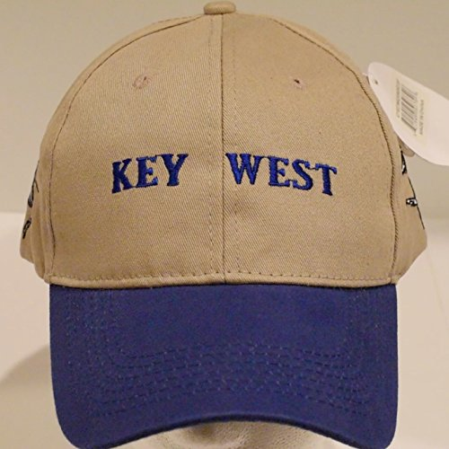 Key West  Florida Conch Republic Khaki Baseball Cap Hat