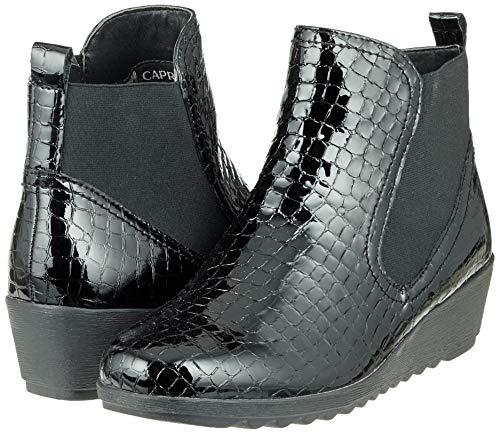 Boots Black 25409 Women''s Chelsea Pat 64 Croco CAPRICE Blk qwZItzx5