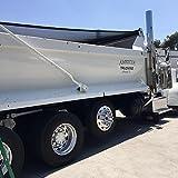 Super 10 Auto Dump Truck Tarp Multi-Colored Mesh Size 7' 6'' X 19' 6'' with Universal Axle Attachments