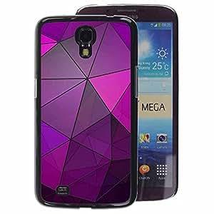 A-type Arte & diseño plástico duro Fundas Cover Cubre Hard Case Cover para Samsung Galaxy Mega 6.3 (Glass Reflective Purple Polygon Lines)