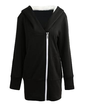 f6d57767769ee Romacci Women Zip up Hoodies Coat Warm Fleece Coat Outerwear Hooded  Sweatshirts Casual Long Jacket Plus Size  Amazon.co.uk  Clothing