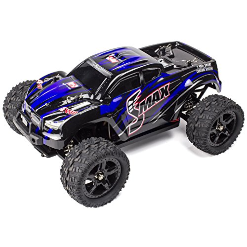 4wd Rc Trucks (Cheerwing 1:16 2.4Ghz 4WD High Speed RC Off-Road Monster Truck Brushed Remote Control Car Blue)