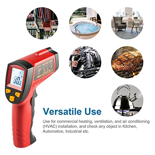 AstroAI Digital Laser Infrared Thermometer, 380 Non-contact Temperature Gun with Range of -58℉~716℉ (-50℃~380℃), Red by AstroAI (Image #5)