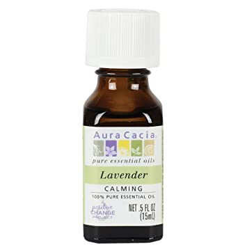 aura cacia essential oil lavender 05 fluid ounce - Scented Oils