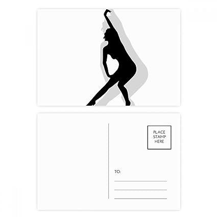 DIYthinker Hot Yoga Hermosa mujer Gracias tarjeta postal de ...