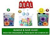 Childrens Mesh Bath Toy Organizer & Bath Toy Starter Combo Set