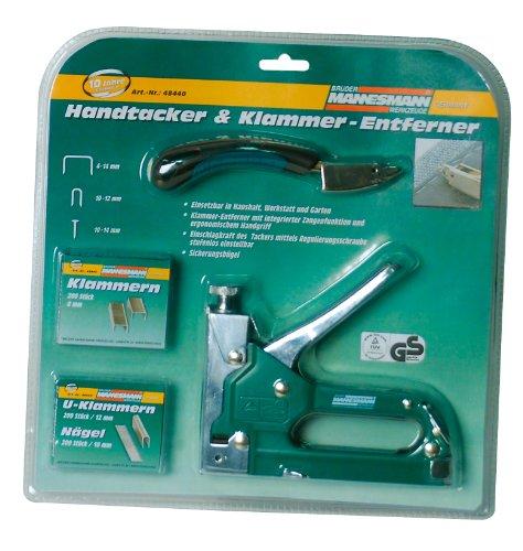 Mannesmann Tacker + Klammernentferner + Klammern im Set, M48440