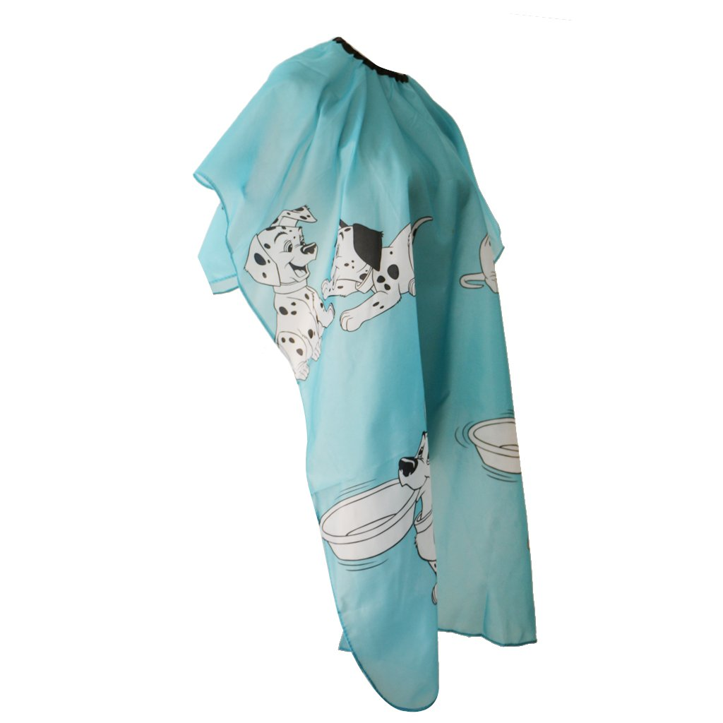 MagiDeal Adjustable Children Hair Cutting Hairdressing Cape Silk Barber Cloth Gown
