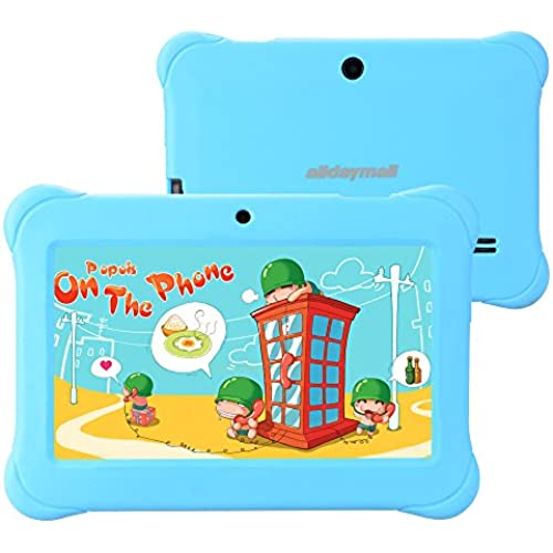 Alldaymall Tablets For Kids, 7 Quad Core with Wi-Fi and Dual Camera, Android 4.4, 8GB+1GB, HD Kids Edition w/ Coupons