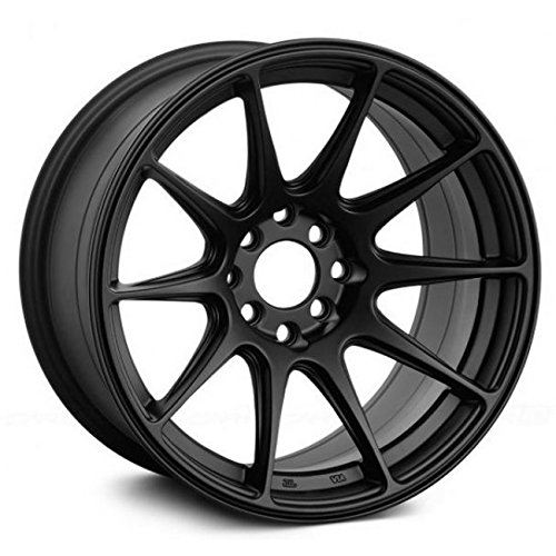 17 x 8.25 inches //5 x 100 mm, 25 mm Offset XXR 527 Flat Black Wheel with Painted