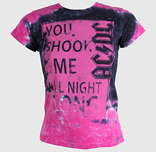- Liquid Blue Women's Ac/dc Shook Me All Night Long Tie Dye Graphic Tee, Large