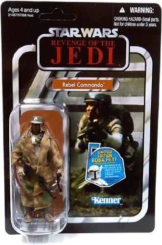 Star Wars 2010 Vintage Collection Action Figure #26 Rebel Commando African American (American Vintage Collection)