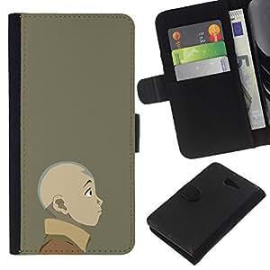 YiPhone /// Tirón de la caja Cartera de cuero con ranuras para tarjetas - Joven dobladora de aire - Sony Xperia M2