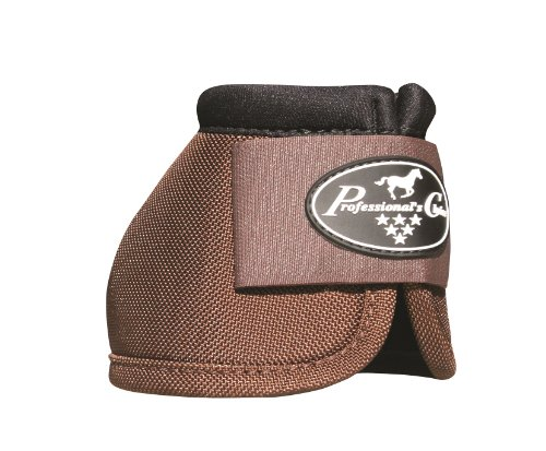 Professionals Choice Equine Ballistic Hoof Overreach Bell Boot, Pair (Large, Chocolate Brown)