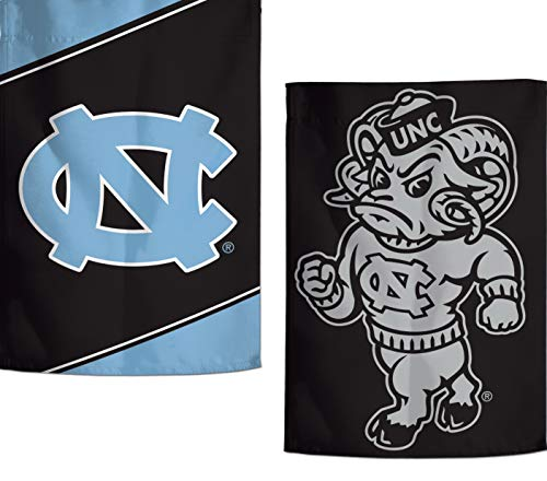 WinCraft University of North Carolina UNC Tar Heels Garden Flag, Action Stripes and Charcoal Edition, 12.5x18 inches, 2 Sided