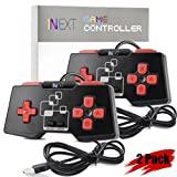 [Newest Version] iNNEXT SNES Retro USB Super Nintendo Controller Gamepad Joystick, USB PC Controller, Raspberry Pi Controller for Windows PC / MAC / Raspberry Pi (Pack of 2)