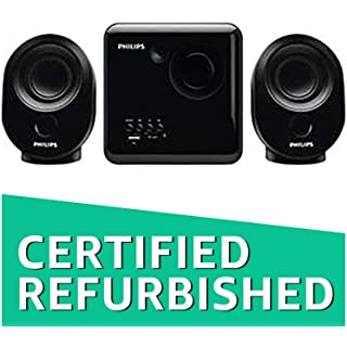 Renewed  Philips SPA150/94 2.1 Desktop Speakers Black Multimedia Speaker Systems