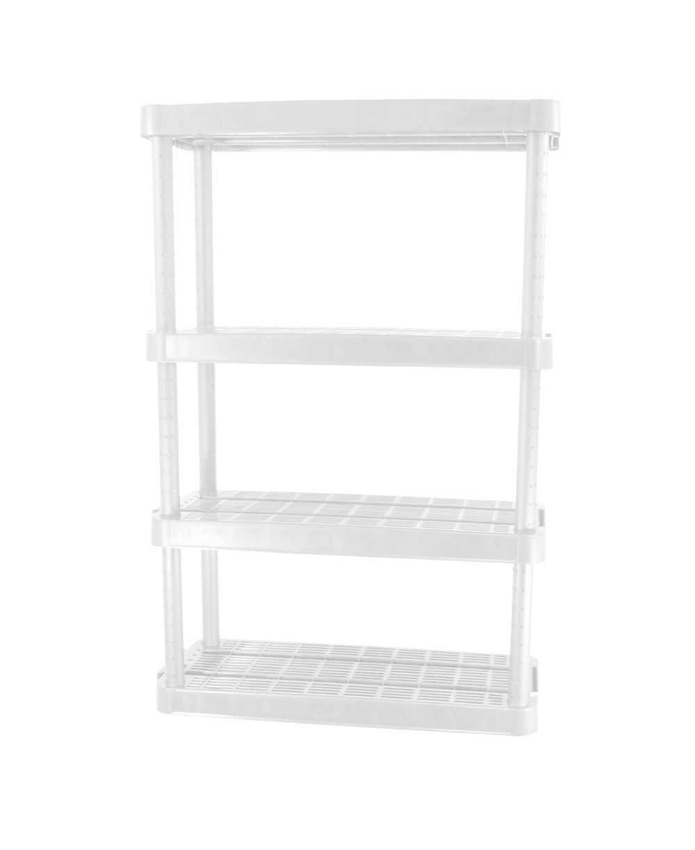 Gracious Living Adjustable 4-Shelf Medium Duty Shelving Unit 91072-1C