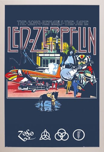 Led Zeppelin - Remains Poster in a White Plastic Frame  2929