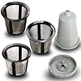 Reusable Coffee Filter Set for Keurig, My K-cup style, Filter Housing + 3 extra filters, Fits B30 B40 B50 B60 B70 Series, Gray HG068
