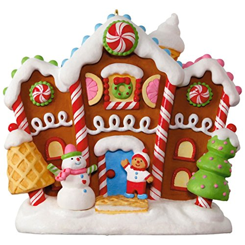 Hallmark Keepsake 2017 Gingerbread Merriest House in Town Musical Christmas Ornament With - Warehouse Hallmark