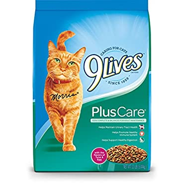9 Lives Plus Care Dry Cat Food, 12 Lb