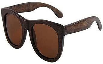 نظارات شمسية من الخشب المستقطبة للرجال والنساء بنمط عبير البحر الخشبي للحماية من الأشعة فوق البنفسجية 400 إطار خشبي من الخيزران