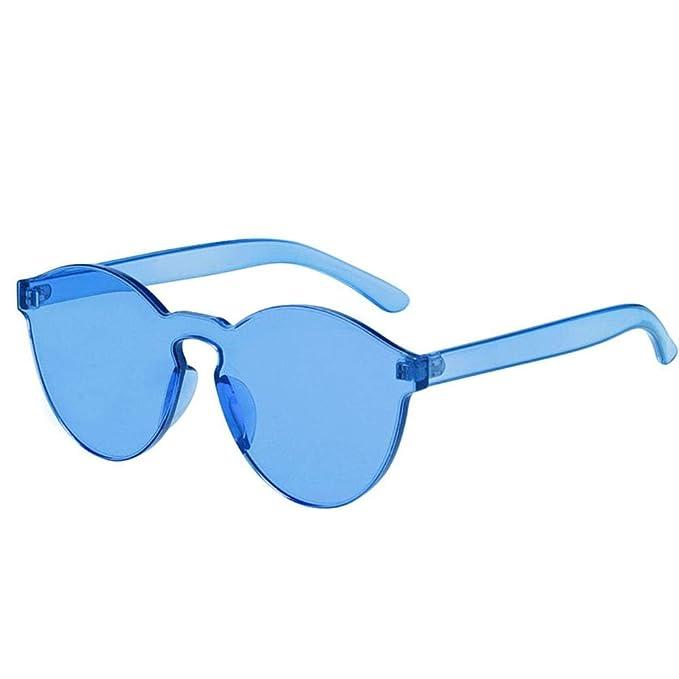 WHAELI 9803 gafas de sol de color caramelo sin marco jalea ...