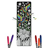 Color In Yoga Mat - Adult Coloring Book Style Exercise Yoga & Pilates Mats, Bonus Carrying Case with Pocket - By Yogartistic