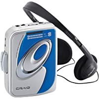 Craig Electronics CS2301A Personal AM/FM Stereo Radio Cassette Player with Headphones