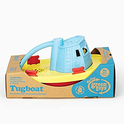 Green Toys My First Tug Boat, Blue: Toys & Games