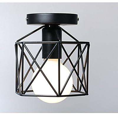 Industrial Ceiling Light, Licperron Edison Hanging Caged Pendant Light Fixture