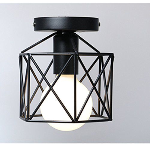 Industrial Ceiling Light, Licperron Edison Hanging Caged Pendant Light Fixture (Light Fixtures Bedroom Pendant)