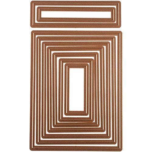 Spellbinders Nestabilities Card Creator Die Templates,  A-2 Matting Basics