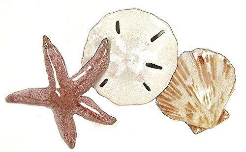 Bovano - Wall Sculpture - Starfish, Sand Dollar, Seashell in Beach (Bovano Wall Sculpture)
