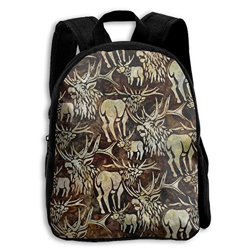 Batik Earth (Batiks Wildlife Sanctuary Moose Earth Kid Boys Girls Toddler Pre School Backpack Bags Lightweight)
