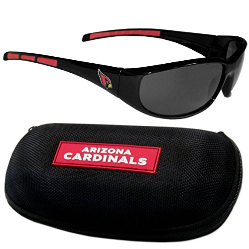 - Siskiyou NFL Arizona Cardinals Wrap Sunglasses & Zippered Case, Black