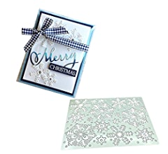 3.9 by 5.5 Inches Waves Rectangle Layering Metal Cutting Dies Background Die Cuts for Card Making and Scrapbooking Thanksgiving Christmas Craft Dies