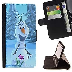 Momo Phone Case / Flip Funda de Cuero Case Cover - Flor feliz de Invierno Primavera - HTC One A9