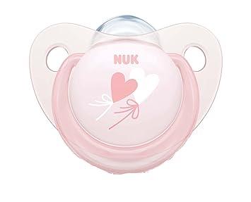 NUK - 2 Chupetes Fisiologicos Classic Rose & Blue Silicona ...