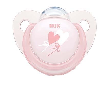 NUK - 2 Chupetes Fisiologicos Classic Rose & Blue Silicona T1 Rosa ...