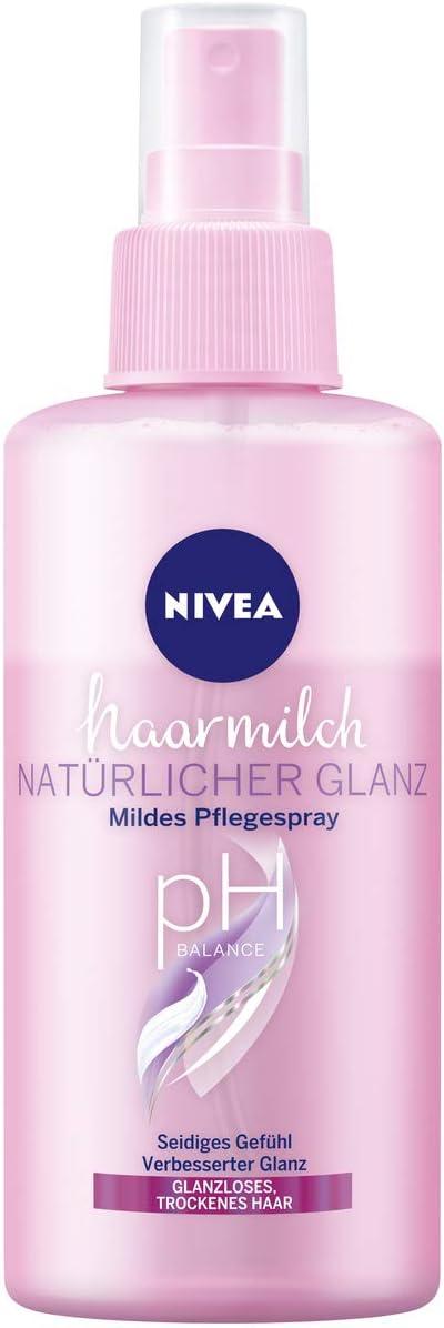 Nivea - Leche para el pelo (brillo natural, espray de cuidado suave, 150 ml