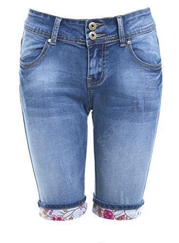 SS7 Women's Denim Knee Shorts, Sizes 6 to 14